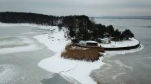 Piękny zimowy obrazek jeziora turawskiego. Zobaczcie pierwszą taką galerię zdjęć