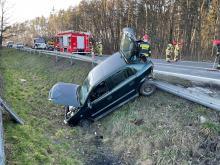 Zderzenie pojazdów w Dąbrowie pod Opolem. Lądował śmigłowiec LPR