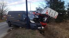 Zderzenie wozu strażackiego i busa w Nysie