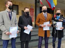 Młodzi Demokraci z Opola chcą powrotu flagi Unii Europejskiej przed gmach Urzędu Wojewódzkiego