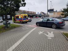 Kierująca audi potrąciła rowerzystkę na oznakowanym przejeździe