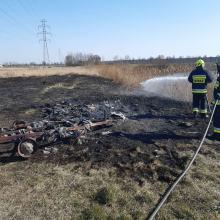 Strażacy coraz częściej wyjeżdżają do pożarów suchych traw. Wypalanie jest karalne!