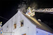 Strażacy walczyli z pożarami mieszkań w powiecie kluczborskim, brzeskim i prudnickim