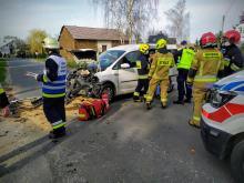 Zderzenie samochodów w powiecie oleskim. Wśród rannych jest dziecko
