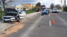 Zderzenie dwóch pojazdów na ulicy Oświęcimskiej w Opolu