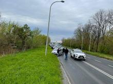 Utrudnienia na Wrocławskiej po kolizji kilku samochodów osobowych