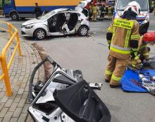 Wypadek w Domaszowicach. Droga jest całkowicie zablokowana