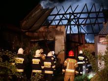 Pożar stodoły w Kózkach gasiło kilkanaście zastępów straży