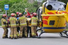 Wypadek z udziałem motocyklisty w Choruli. Lądował śmigłowiec LPR