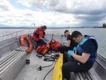 Akcja ratunkowa na Jeziorze Nyskim. Wędkarz stracił przytomność