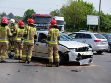 Zderzenie trzech pojazdów w Kędzierzynie-Koźlu