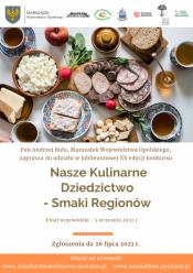 """Ogólnopolski konkurs """"Nasze Kulinarne Dziedzictwo - Smaki Regionów"""""""