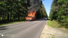 Pożar samochodu w powiecie oleskim