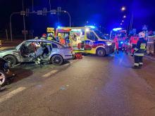 Poważny wypadek na skrzyżowaniu obwodnicy z Luboszycką