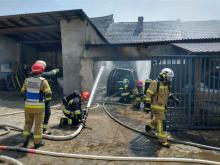 Pożar stodoły w Mechnicy. W akcji 10 zastępów straży