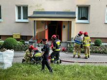 Pożar w bloku przy ulicy Dambonia w Opolu. Jedna osoba została poszkodowana