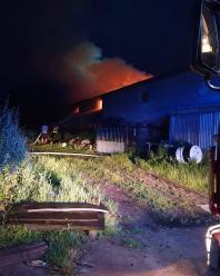 Pożar stodoły w powiecie kędzierzyńsko-kozielskim