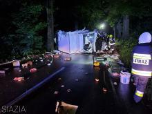 Murów: Samochód dostawczy uderzył w drzewo