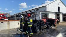 Pożar maszyny rolniczej w powiecie kędzierzyńsko-kozielskim