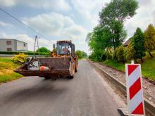 Trwa przebudowa drogi w Zimnicach Małych i Goszczowicach