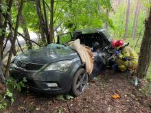 Wypadek na trasie Zawadzkie-Kolonowskie. Ciężko ranna kierująca zabrana do szpitala