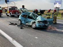 Wypadek w Opolu-Wrzoskach. Ciężko ranny mężczyzna trafił do szpitala