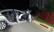 Powiat oleski: Pijany kierowca wjechał w ogrodzenie posesji