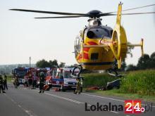 Groźne zderzenie osobówki z motocyklem w Kędzierzynie-Koźlu