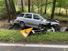 Wypadek w Bierdzanach na trasie Opole - Kluczbork