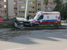 Wypadek na Nysy Łużyckiej w Opolu. Kobieta z 1,5 rocznym dzieckiem trafiła do szpitala