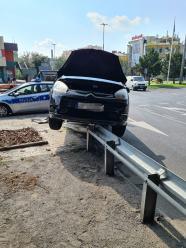 Niebezpieczna kolizja na rondzie w Opolu