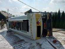 Dwa samochody ciężarowe zderzyły się w gminie Głogówek