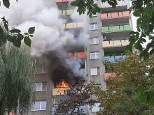 Pożar mieszkania przy ulicy Grota Roweckiego