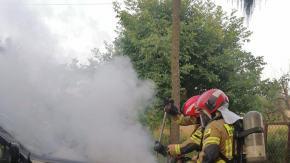 Pożar samochodu osobowego w Strzelcach Opolskich