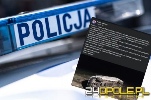 Potrącenie policjanta, dachowanie i strzały. Pościg za kierowcą pędzącego busa