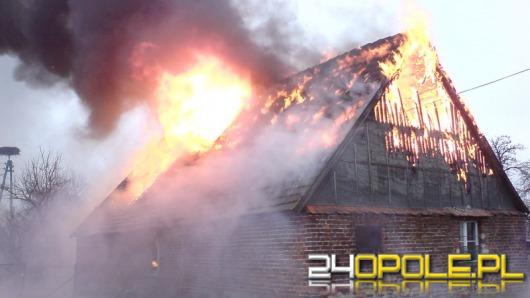 Pożar domu w Duczowie Wielkim