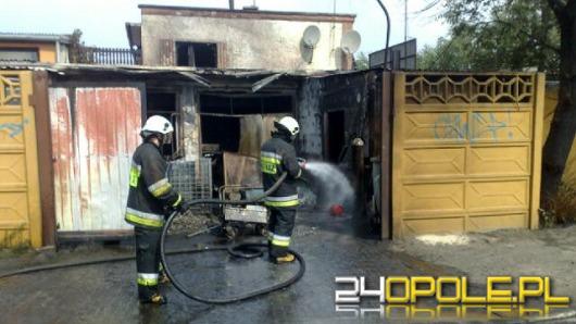 Pożar na złomowisku w Kędzierzynie-Koźlu