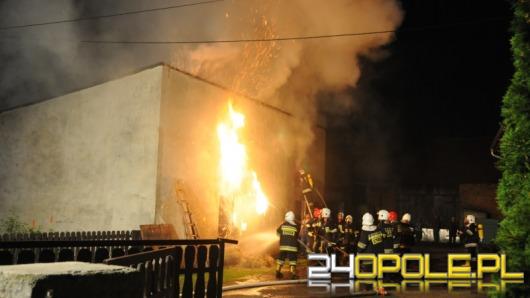 Pożar zabudowań w Domecku