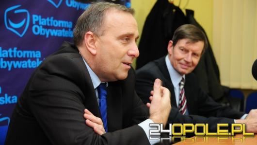 Grzegorz Schetyna przyjechał poprzeć Zembaczyńskiego