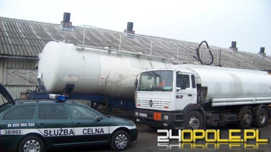 Nielegalna baza paliw na fermie drobiu