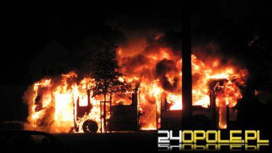 Pożar autobusu MZK. Pojazd doszczętnie spłonął