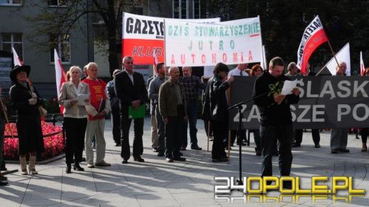 Protestowali przeciwko Stowarzyszeniu Osób Narodowości Śląskiej