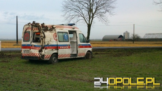 Wypadek ambulansu pod Kędzierzynem-Koźlem