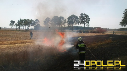 Iskra z kombajnu przyczyną pożaru