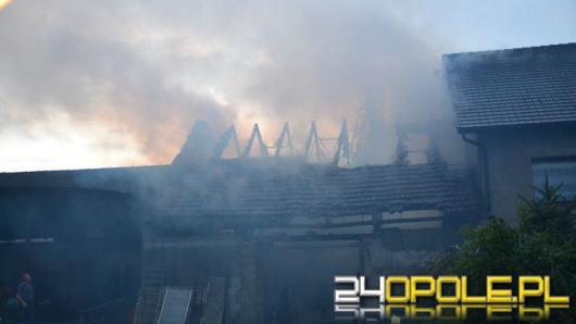 Pożar budynku gospodarczego w Różynie