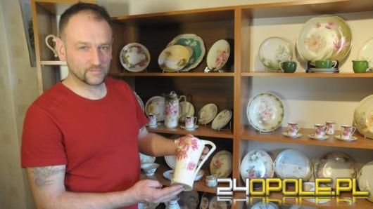 Niezwykła kolekcja tułowickiej porcelany w domu Ryszarda Wittke
