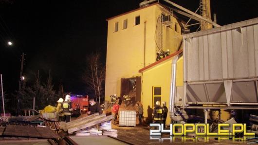 Pożar w zakładzie stolarskim w Lubszy