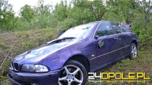 BMW wypadło z drogi w Okopach