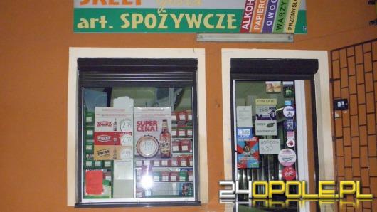 Napad z bronią na sklep w Lewinie Brzeskim