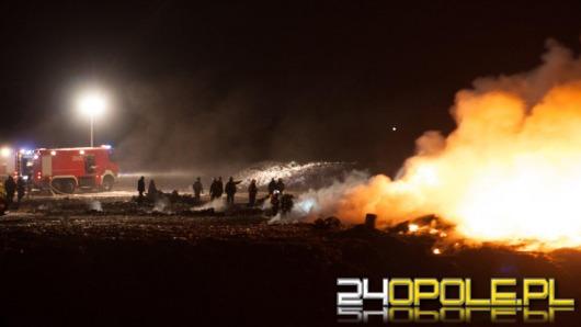 Pożar na wysypisku śmieci w Opolu